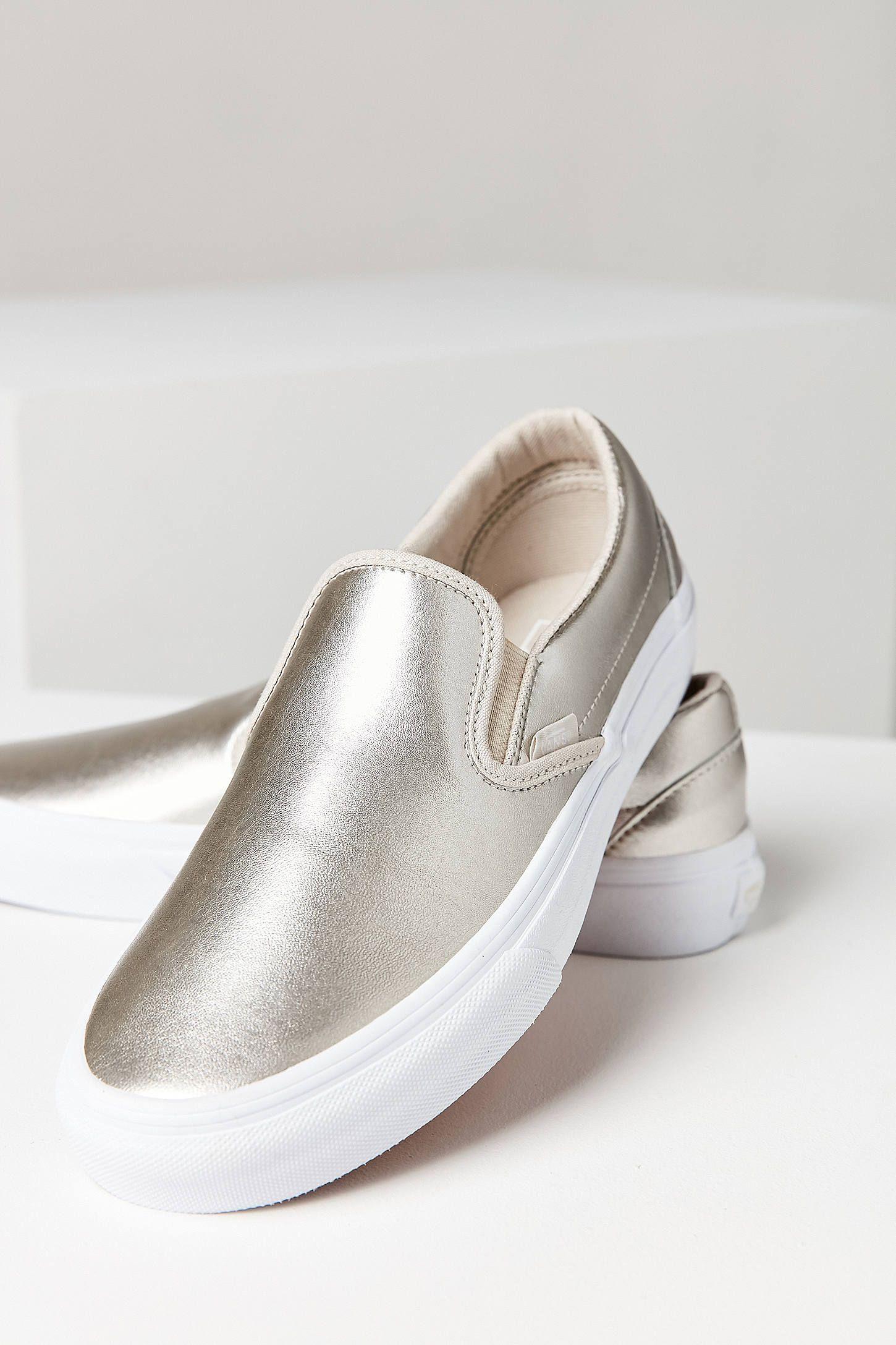 Vans Silver Metallic Slip-On Sneaker
