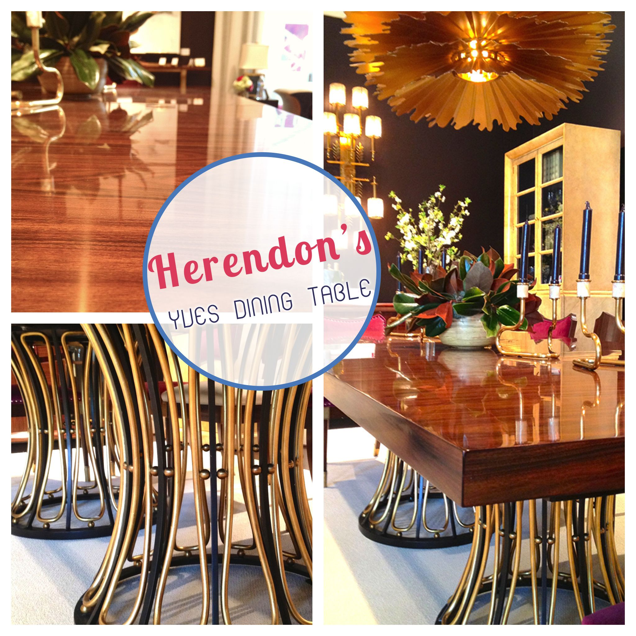 herendon the yves dining table by celerie kemble for herendon is such a - Celerie Kemble Furniture