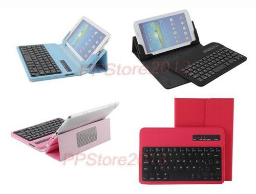 """Detachable Wireless Bluetooth Keyboard Stand Leather Case for Tablet PC 7"""" 8"""""""