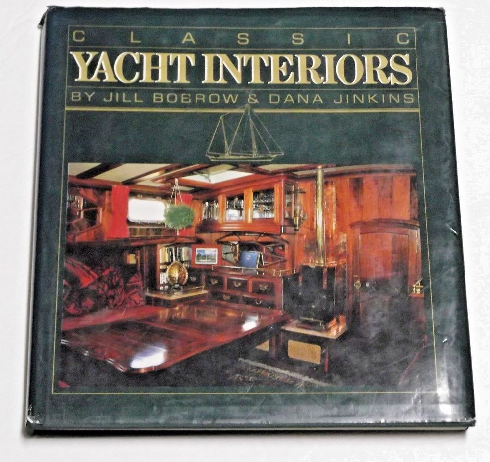 Clic Yacht Interiors Hardcover Coffee Table Book Boating