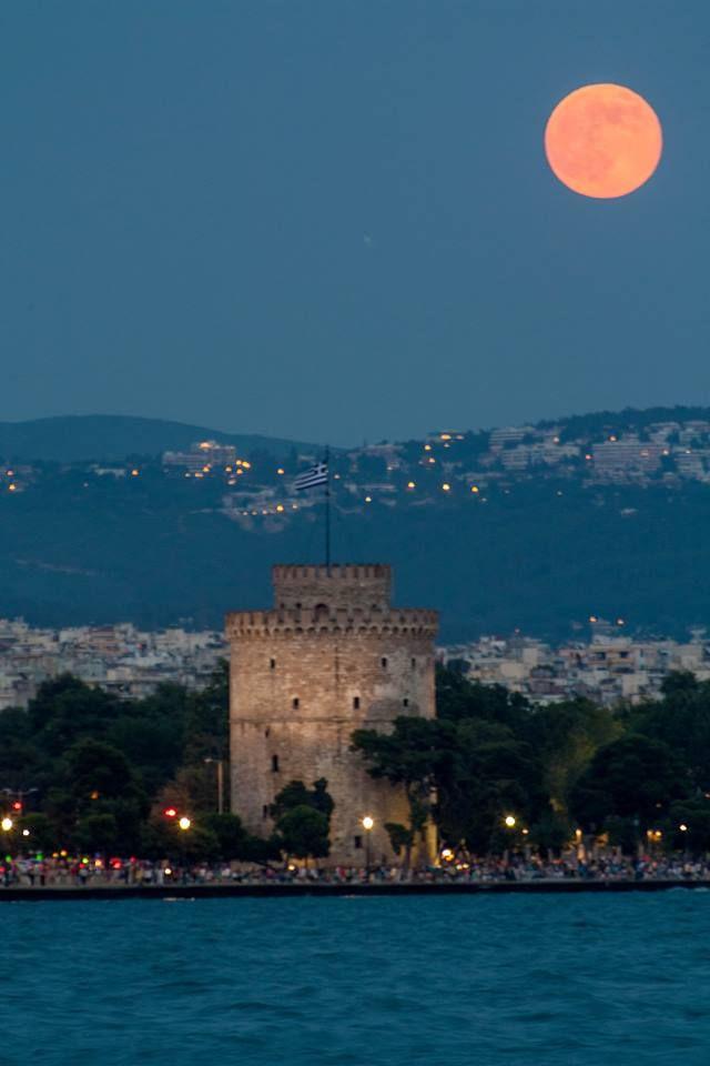 VISIT GREECE| Moonlight in #Thessaloniki #Macedonia #Greece
