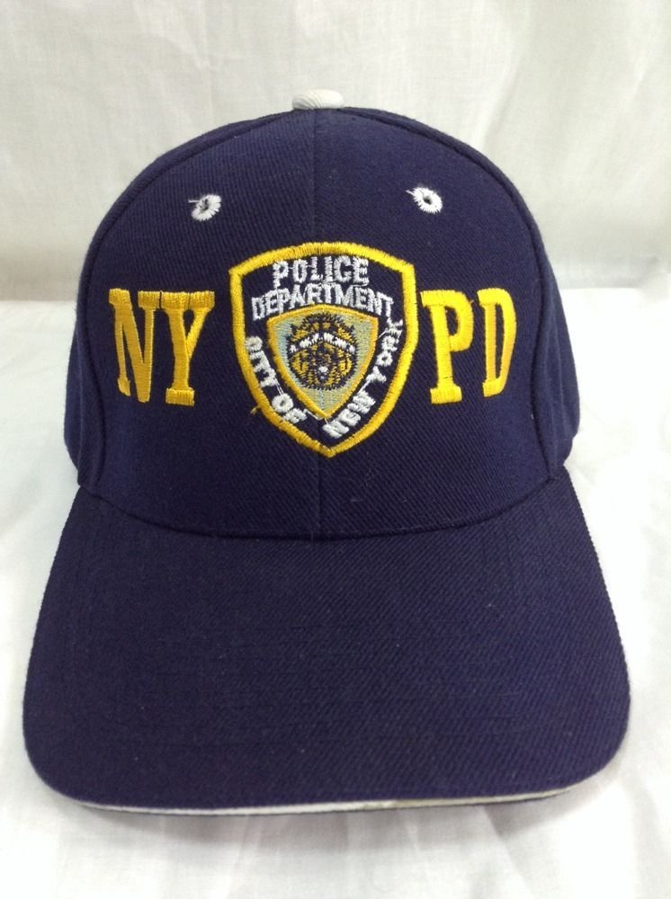 NYPD Strapback Hat New York City Police Embroidered Patch Logo Navy Blue Cap   Unknown  BaseballCap 2ad113a9dd63