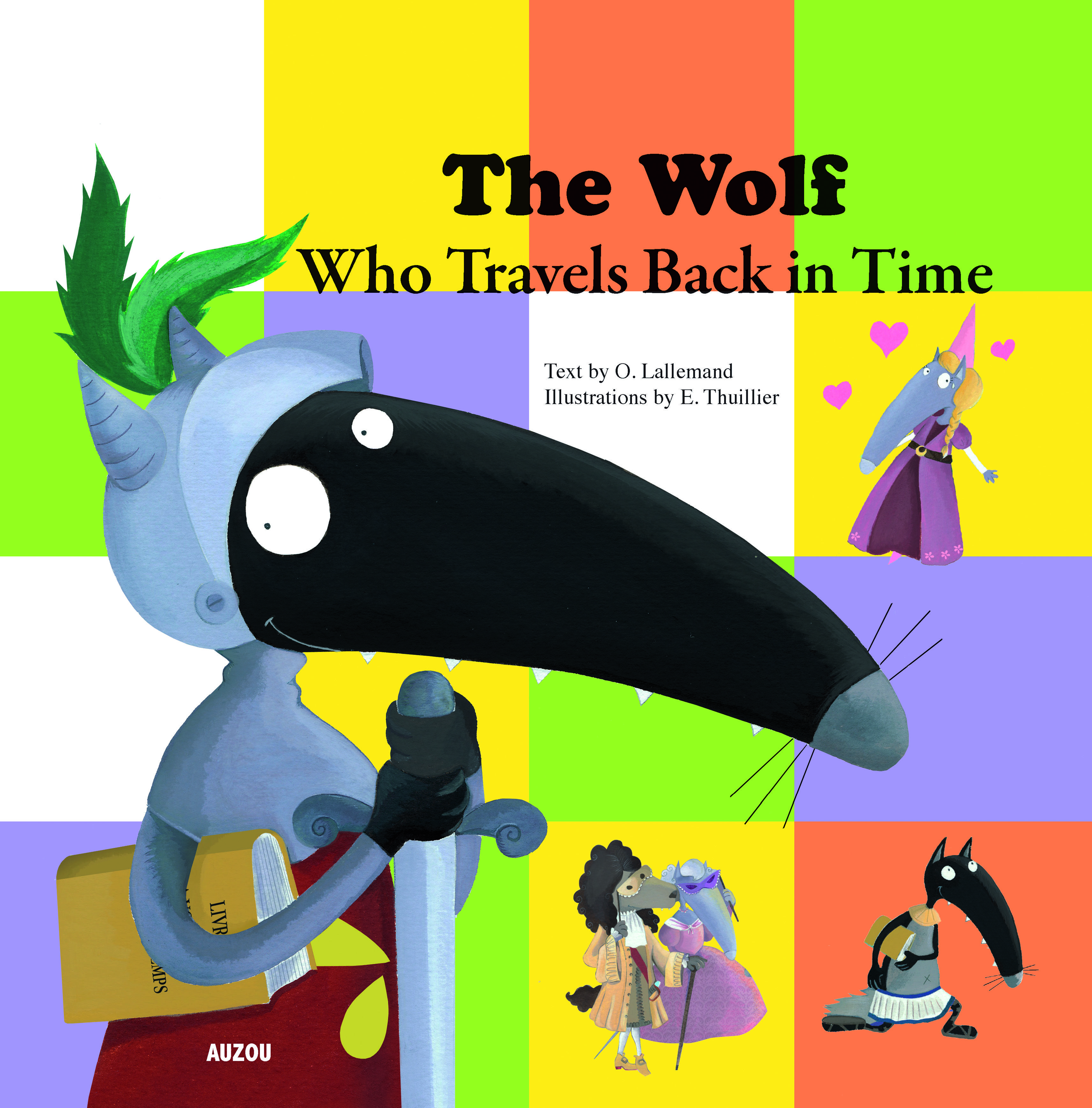 #wolf -  One day, the wolf found an amazing book — it sent him on a journey back in time! In a flash, he finds himself face to face with dinosaurs, prehistoric men and even Julius Caesar. His incredible adventure turns out to be full of surprises! Who will he meet next?