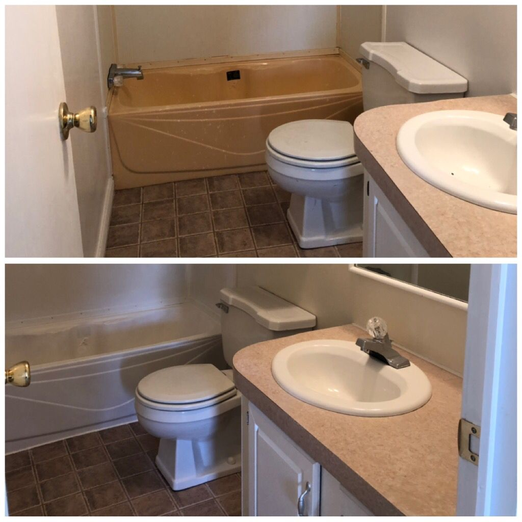 Spray Paint With A Rustolem Tub And Shower Kit Fiberglass
