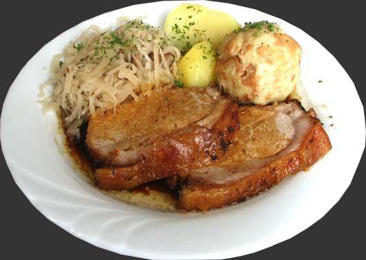 schweinsbraten roast pork a traditional austrian dish