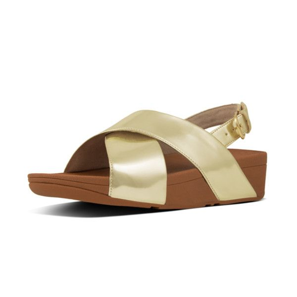fd1aa8d32c7c FitFlop Lulu Cross Back Strap Sandals in Mirror Gold colour available from  Brandshop UK with FREE