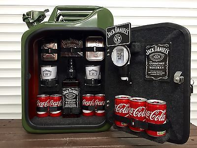 Jack Daniels Mini Kühlschrank : Jerry can mini bar jack daniels grey goose vodka whiskey camping