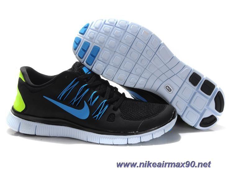 Nike Free 5.0 579959-003 Black Blue Mens Outlet