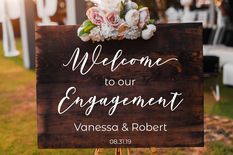 Personalized Welcome Wedding Sign Decals for Wedding Decor Prop Custom Vinyl