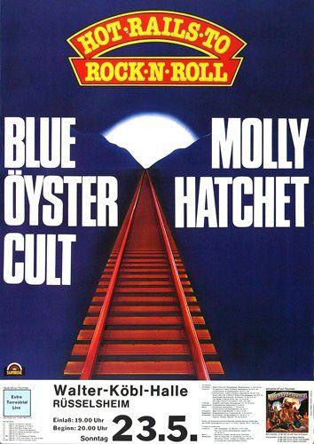Blue Öyster Cult - Tyranny And Mutation 1972 - Poster Plakat Konzertposter
