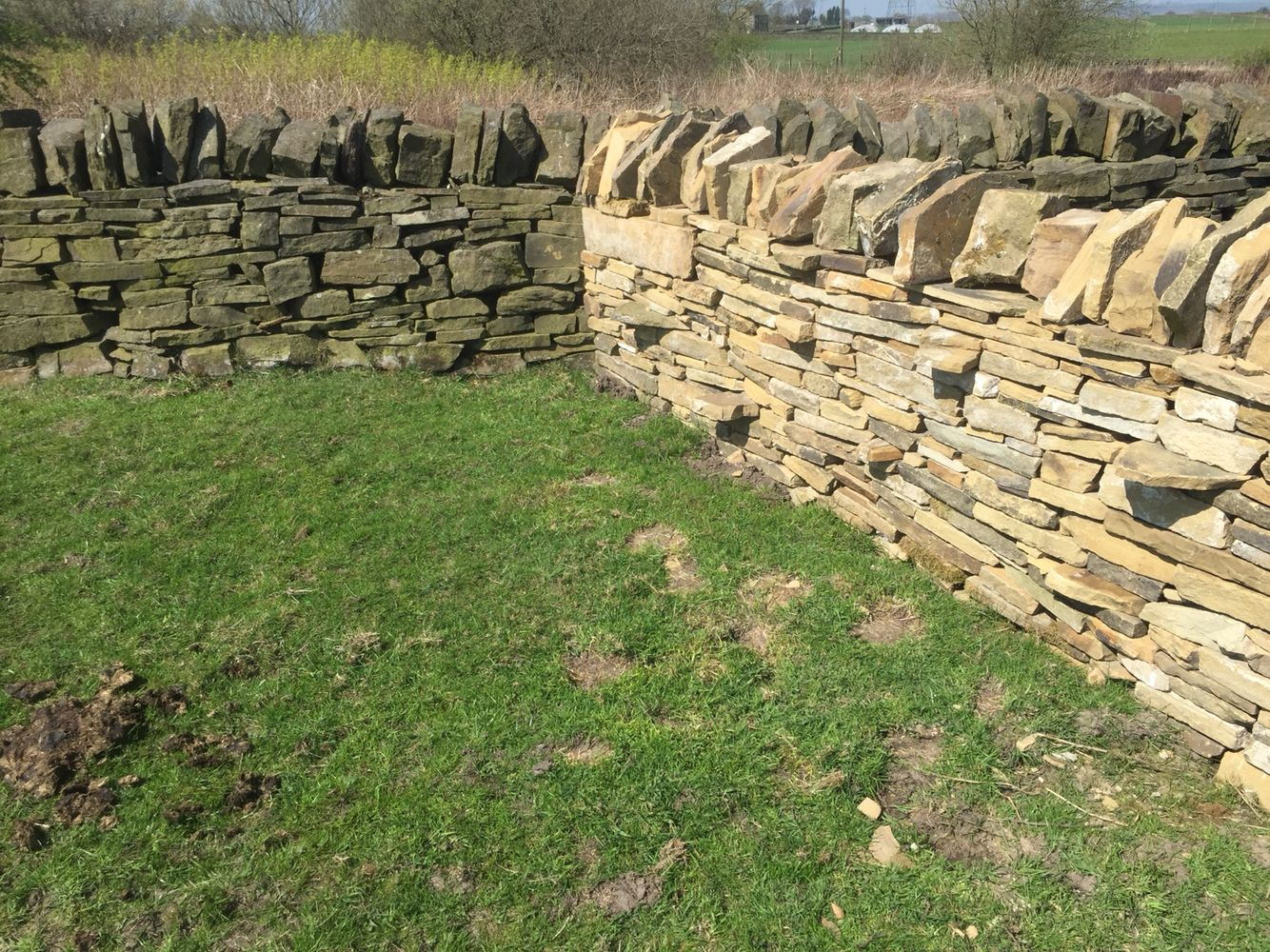 New Meets Old Yorkshire Dry Stone Wall Dry Stone Wall Dry Stone Stone Wall