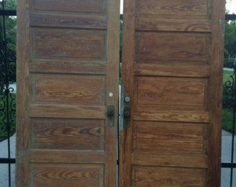 SALE PRICE REDUCED Old Wood Doors, Antique Wood Doors, Old Doors ...