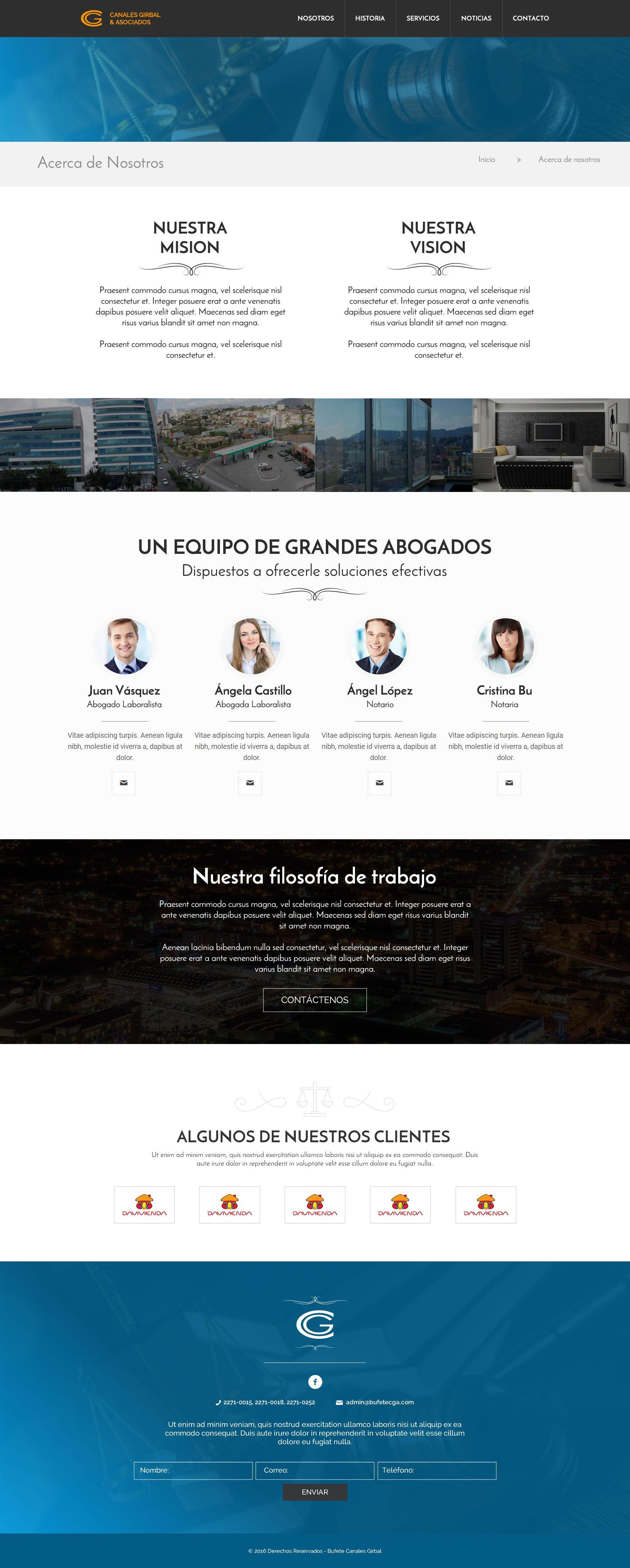 Diseño de Página web del Bufete de Abogados Canales Girbal y Asociados en Honduras. #AndesDev #AgenciaDigital #DiseñoWeb