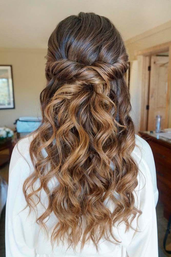 30 Chic Half Up Half Down Bridesmaid Hairstyles Wedding Hair