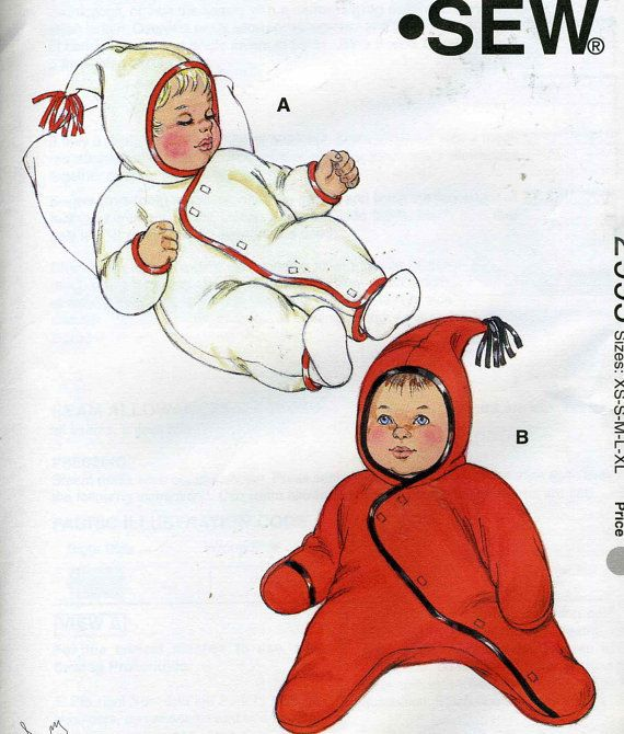 Kwik Sew 2995 UNCUT Baby Bunting Pattern - Sizes XS-XL | Little ...