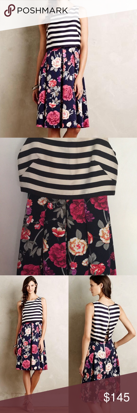 "f7d1ba318ece Moulinette Soeurs split print dress Excellent condition. Bust 17"", Waist  13.5"" Anthropologie Dresses"