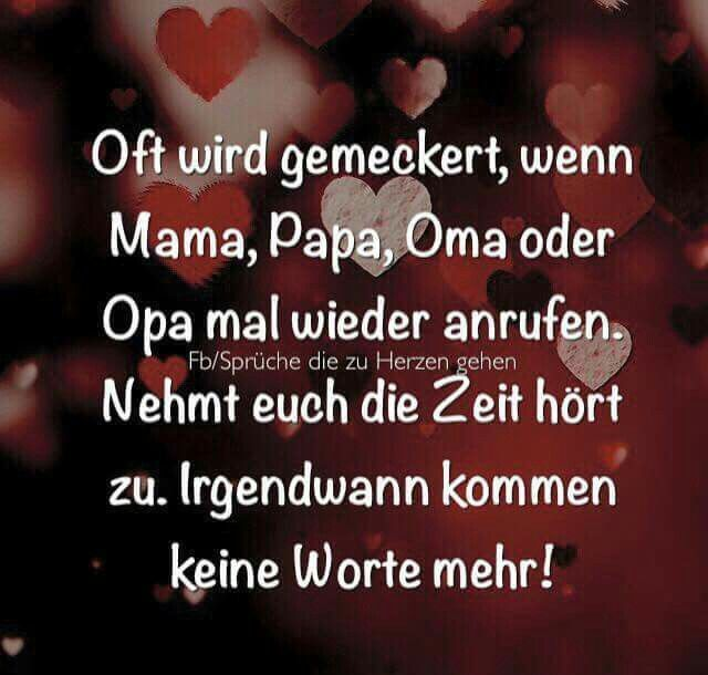Mama Papa Oma Opa rufen an | German | Life Quotes ...