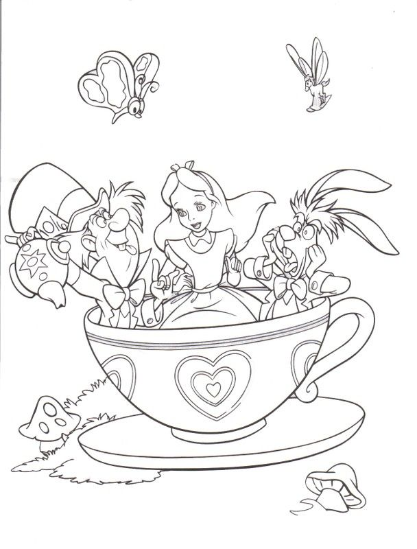Alice In Wonderland Coloring Book Pages | Coloring Pages ...