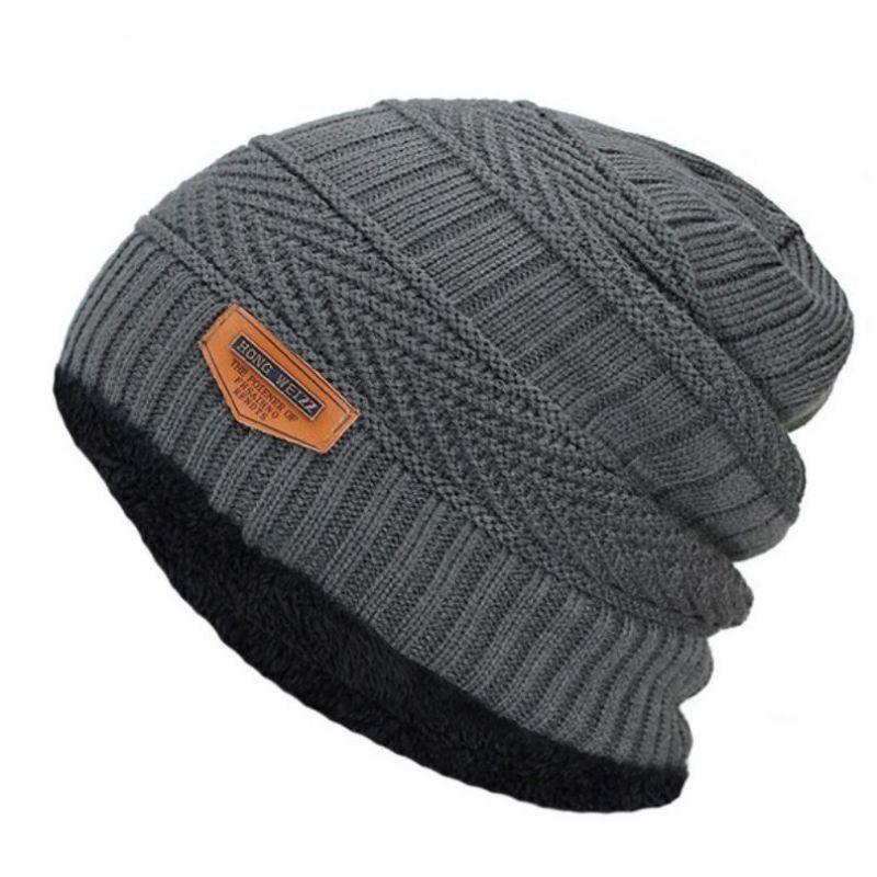 Temporada de gorros de invierno tienda Online que no dejará que pases frío  Gorro de Invierno Moda Hombre 2018 Caliente para el frío de punto Suave  Algodón. 98c6907910d