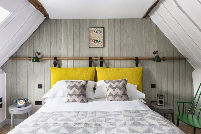 Grey U0026 White Bedroom With Wood Panelling In Small Space Design Ideas. Small  White U0026