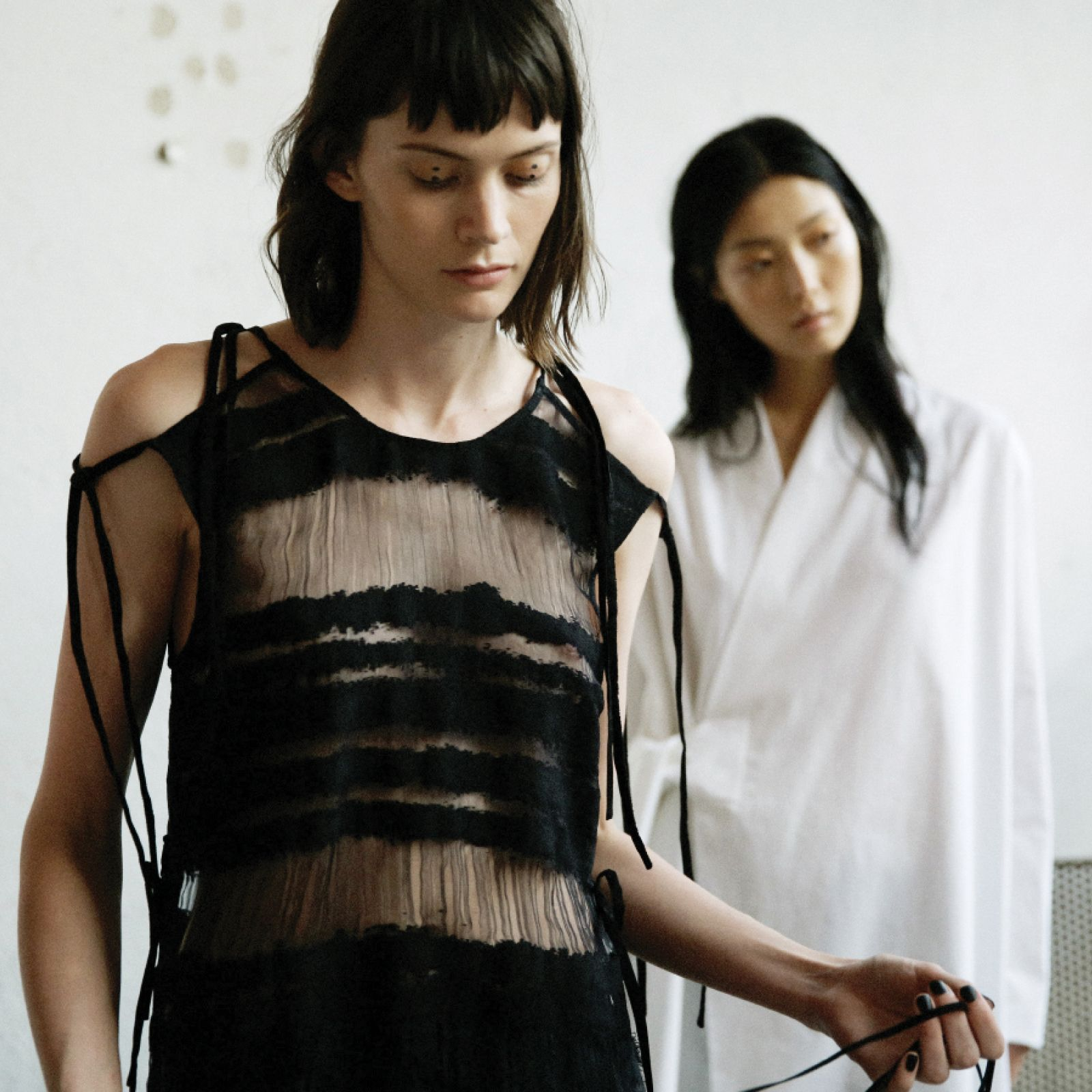 Damir Doma Women's SS16 Collection Available Online: Torino Top With Laces And Jahia Wrap Jacket. https://www.instagram.com/p/BEEP5aXp-3_/?taken-by=damirdomaofficial