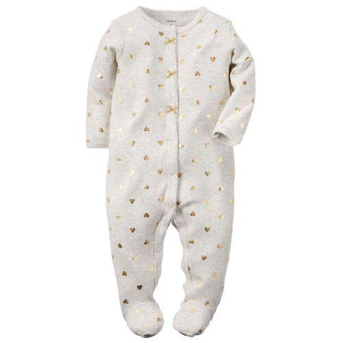47905292d NWT Carters Infant Girl s Footed Blanket Sleeper Sleep   Play ...