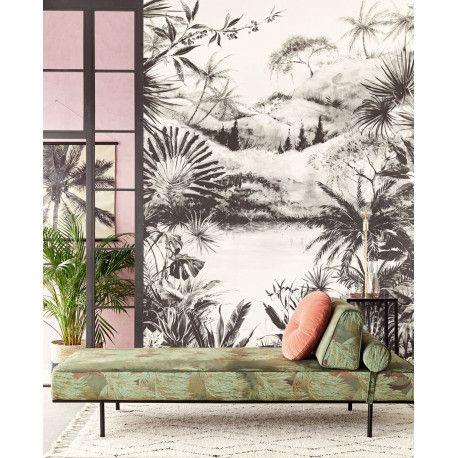 Panoramique vivid tropical noir et blanc de eijffinger