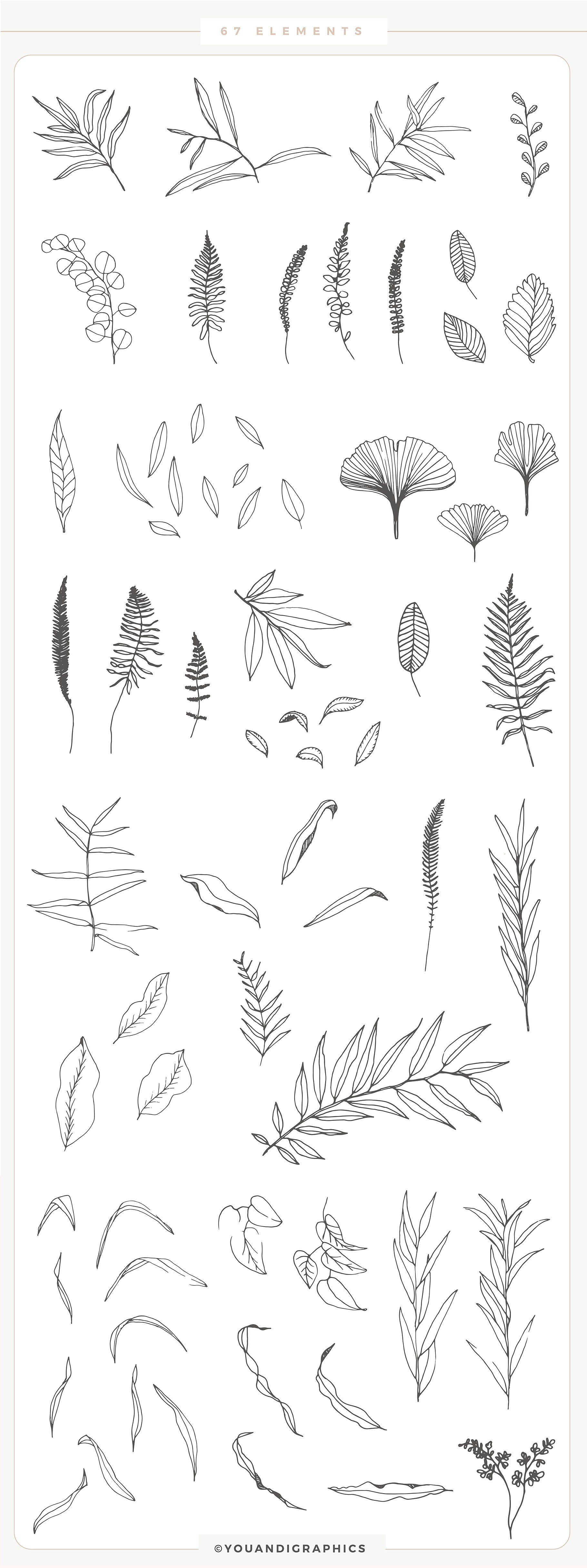 Romantic Leaves Collection by Youandigraphics on @creativemarket #romanceornot?