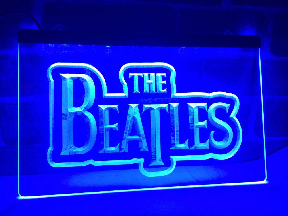 LF012 The Beatles Band Music Logo Bar LED Neon Light Sign