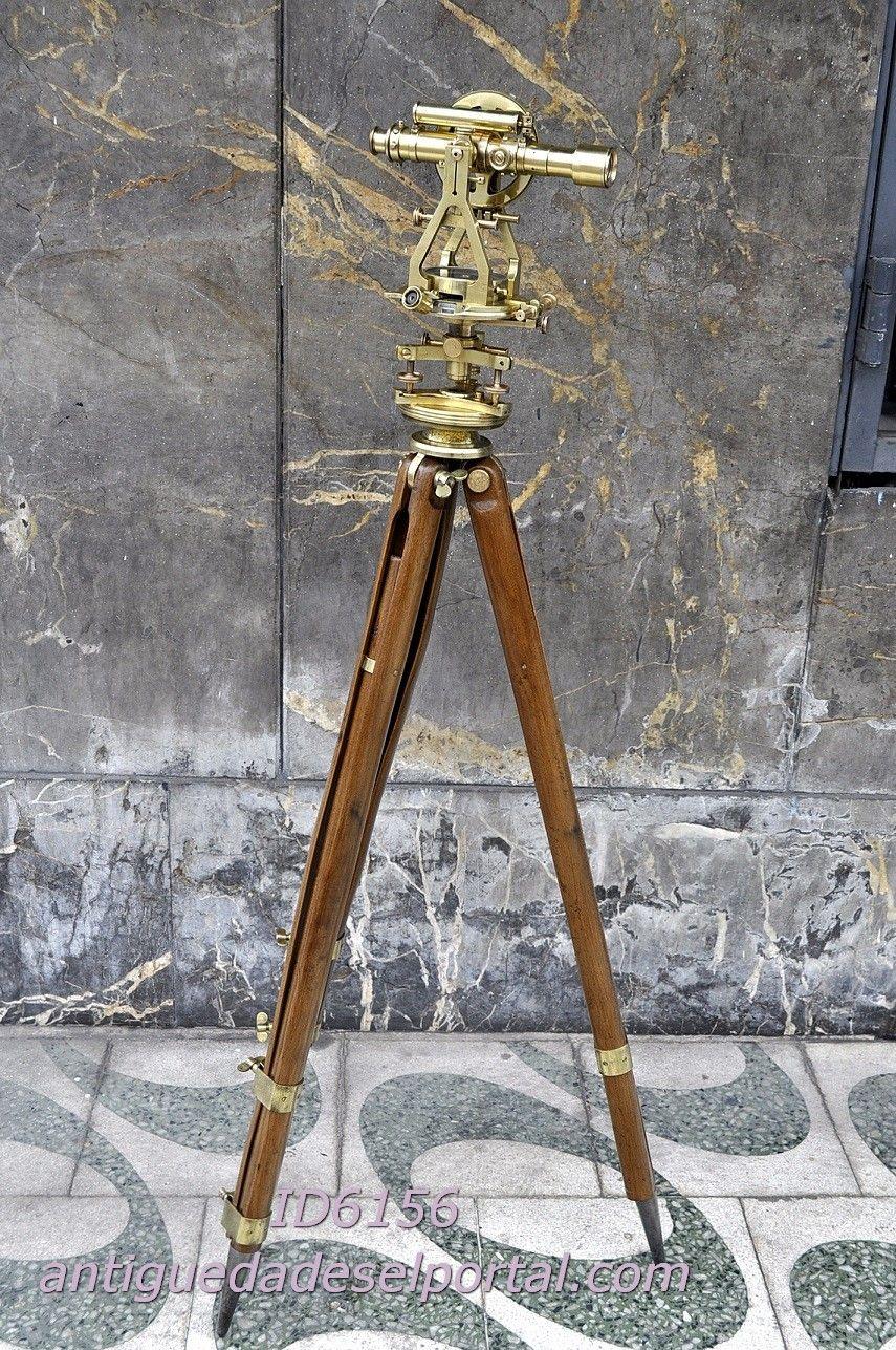 Arte y antigüedades Antiguo/Vintage brasstelescope sólido con trípode de madera-Lente De Alta Calidad Náutica