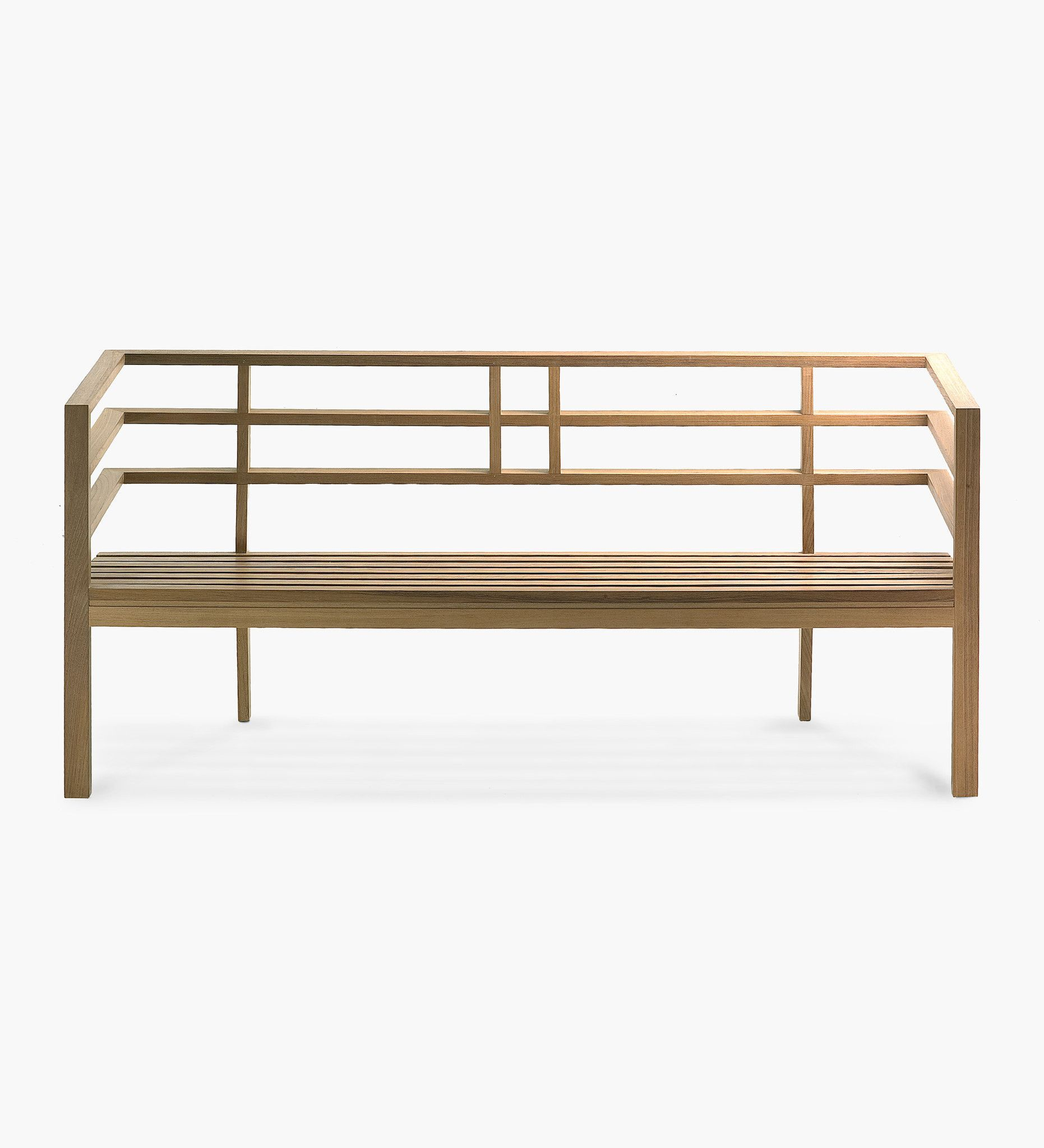 Skop Bench With Back By Factory Street Furniture Contemporary