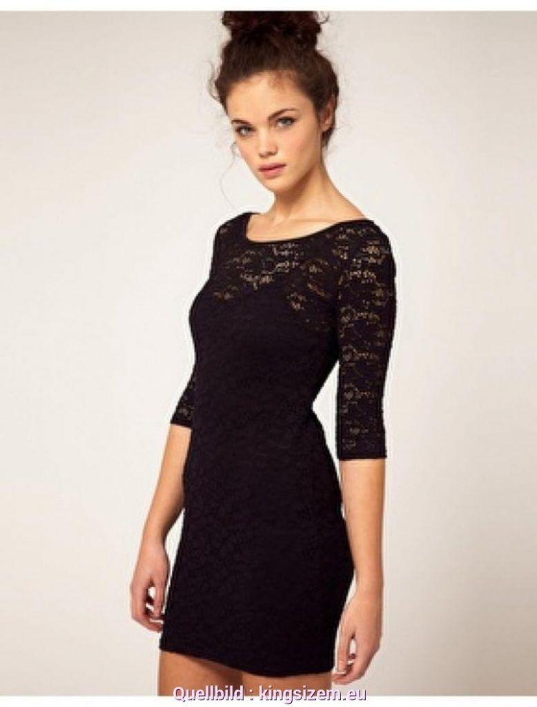 Schwarzes Kleid Mit Spitze in 3  Kleid schwarz spitze