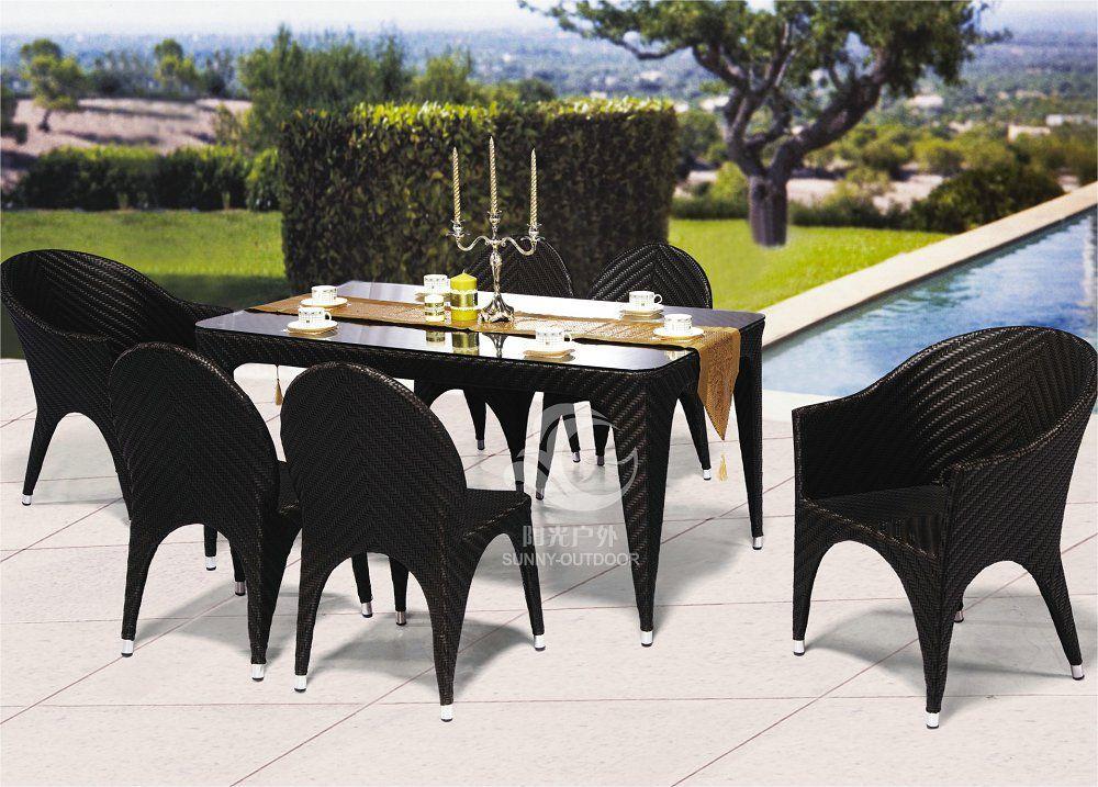 Nuevo diseño de juego de muebles de jardín de ratán sintético, al ...
