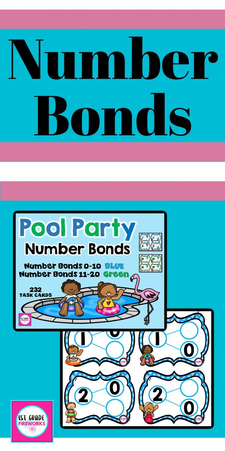 Pool Party Number Bonds | Mental maths, Number bonds and Basic math