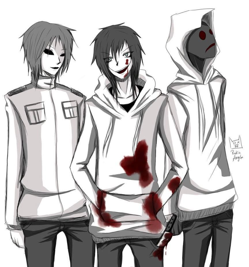 Masky Jeff The Killer And Hoody Masky And Hoodie Creepypasta