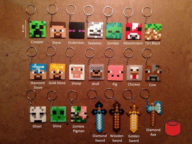 Inecraft Ke Ychains 15 Incredibly Unique Minecraft Toys That Ll Take Your Geekiness To New Lev Hama Beads Minecraft Manualidades De Minecraft Cosas Minecraft