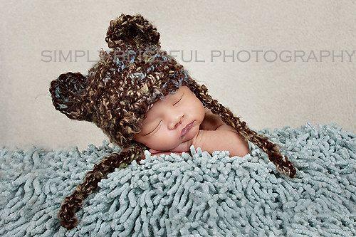 8299528b767 Newborn Baby Bear Hat -  15.00