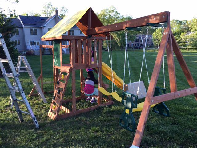 516 Big Backyard Cedarbrook Playset Assembled In Princeton Nj