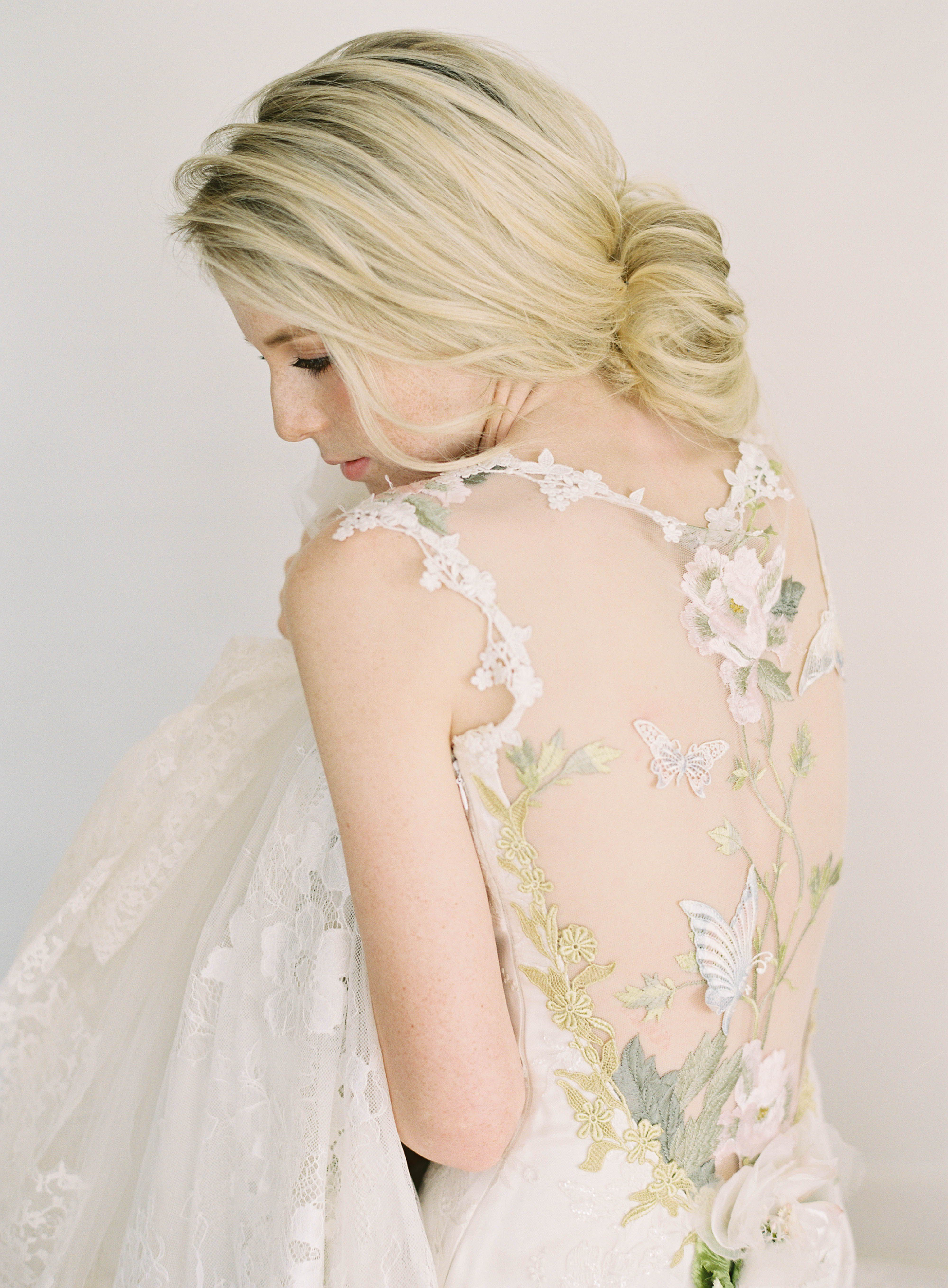 Papillon Couture Embroidered Wedding Dress By Claire Pettibone Is