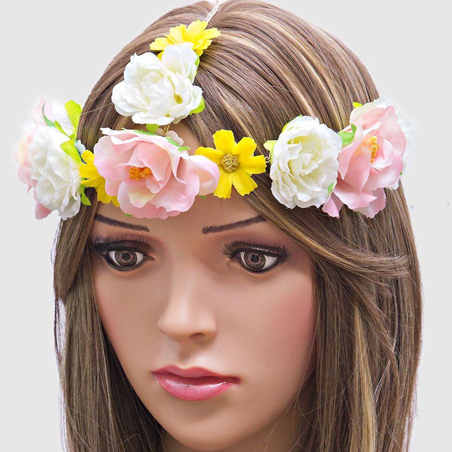 Festival boho rose head chain flower crown headband spring has festival boho rose head chain flower crown headband izmirmasajfo