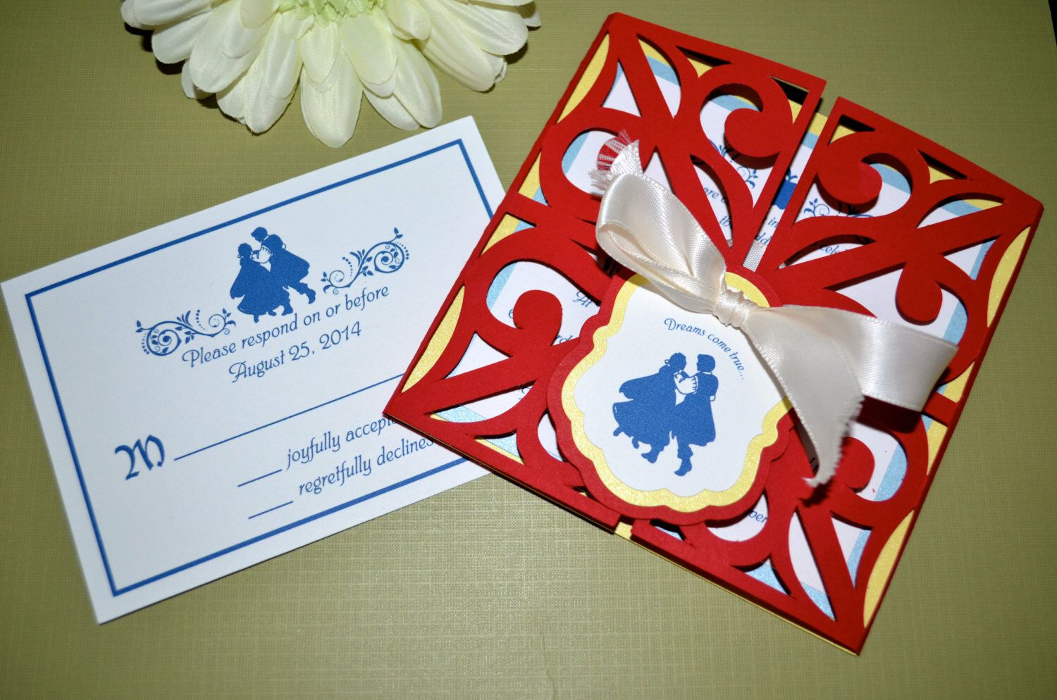 Fairy Tale Wedding Invitations - Snow White, Gate Fold | Pinterest ...