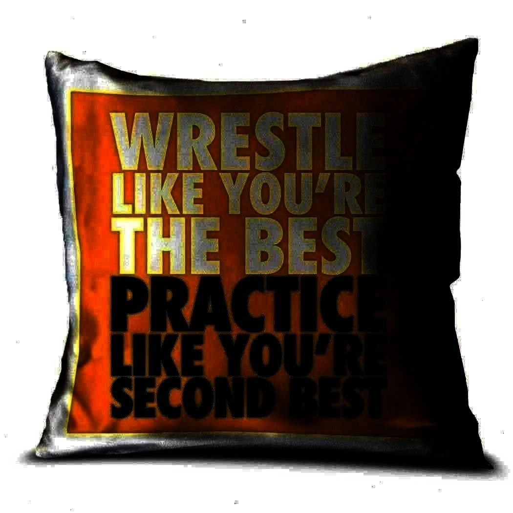 Yellow  Wrestling Pillow  Wrestle Like Youre The Best  Wrestling Room Decor  Yellow Wrestling Pillow  Wrestle Like Youre The Best  Wrestling Room Decor  Yellow  Wrestlin...