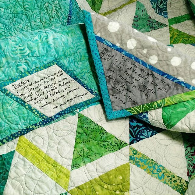 #IGQuiltFest Day 24: Labels. I Am A Big Believer In