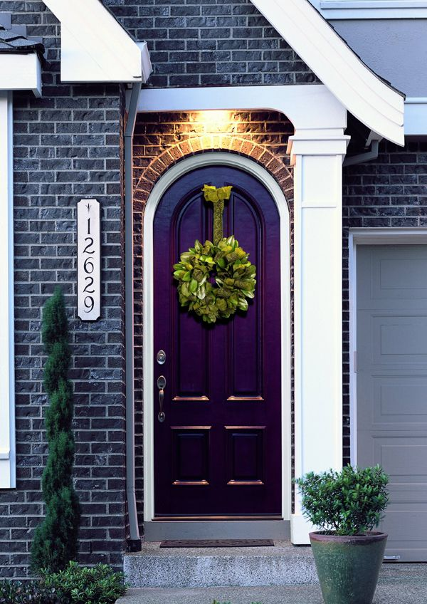 Eggplant coloured front door.. wondering if this would look good ...