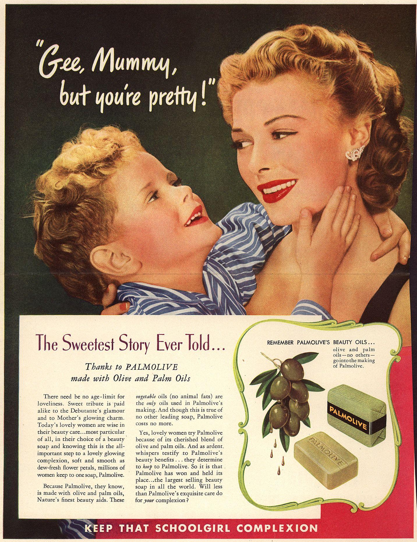 Vintage Palmolive soap ad.