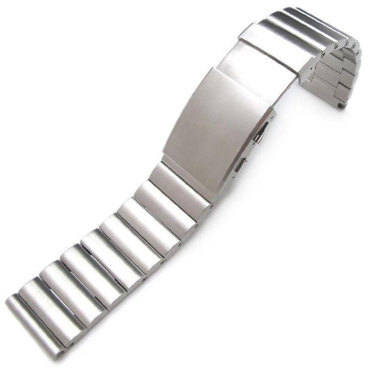 24mm bandoleer 316l straight end stainless steel watch