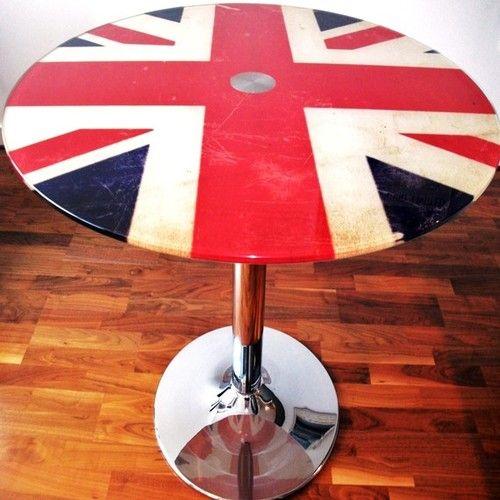 Nightstand Side table Union Jack Table Accent Table United Kingdom British Flag