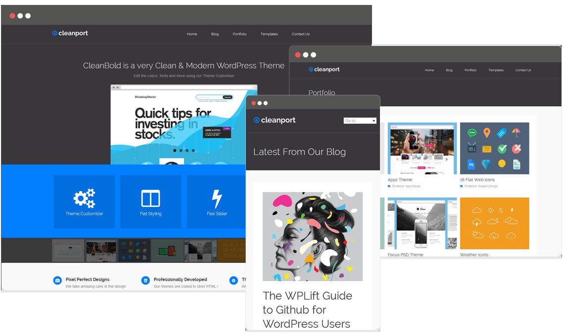 CleanPort Lite - a flat design styled WordPress portfolio theme for ...