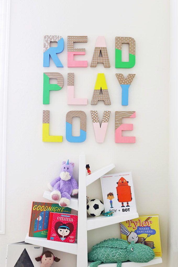 Quick Easy And Inexpensive My Kind Of Diy Project Kids Playroom Decor Letter Wall Decor Scrabble Tile Wall Art