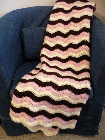 """neopolitan ripple baby blanket from """"greeting arts""""  freebie pattern, just divine colours! thanks so xox"""